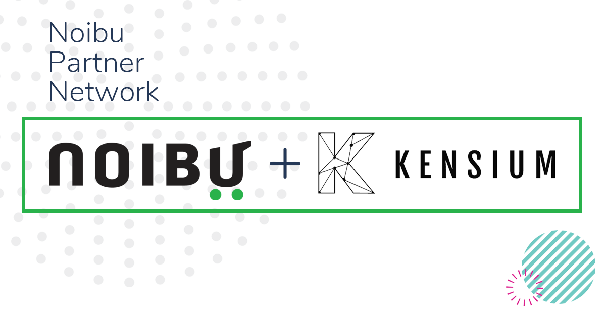 Noibu and Kensium Solutions logos
